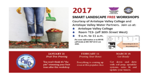 Get Ready for Spring - Free Smart Landscape Workshop @ Antelope Valley College | Lancaster | California | United States